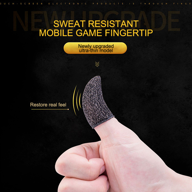 1 Pair L1 R1 Breathable Mobile Game Controller Finger Sleeve Touch 1