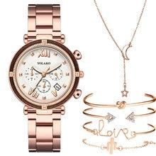 6 sztuk zestaw luksusowych kobiet zegarki magnetyczne Starry Sky kobieta zegar zegarek kwarcowy moda damska Wrist Watch relogio feminino
