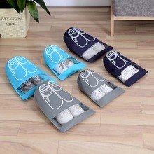 10pcs/Lot Waterproof Shoes Bag Pouch Storage Travel Portable Tote Drawstring Organizer Cover Non-Woven Laundry Dustproof