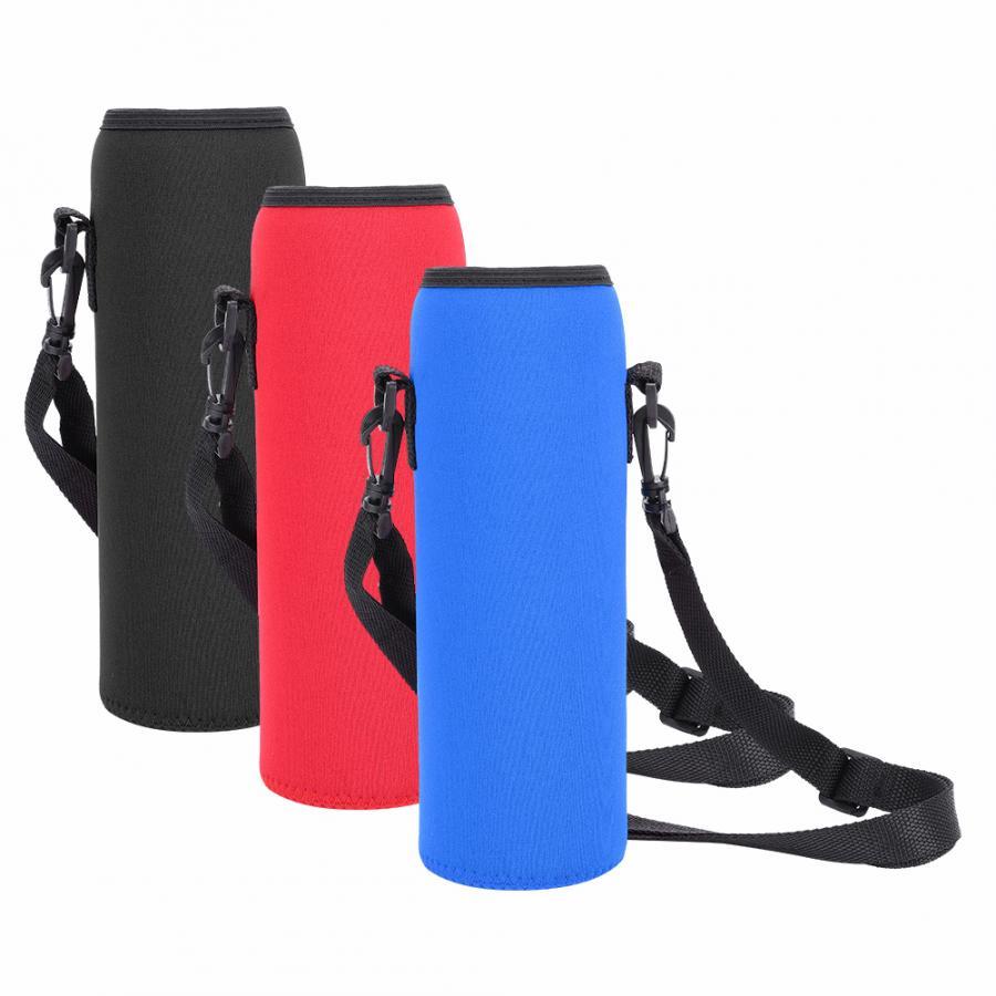 1Л сумка для бутылки воды на открытом воздухе для кемпинга походов сумка для чайника переносная дорожная бутылка для воды держатель для рюкзака из неопрена термальная Мешки для воды      АлиЭкспресс