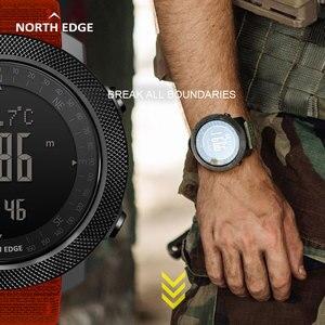 Image 4 - NORTH EDGE APACHE mężczyźni sport cyfrowy zegarek godziny działa pływanie zegarki wojskowe barometr wysokościomierz kompas wodoodporny
