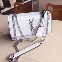 Fashion woman bag Handbag Crocodile pattern Shoulder bag small square bag Chain Lady Crossbody bag