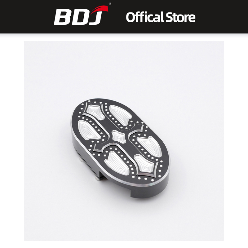 BDJ Motorcycle Pedal Pad Cover Brake Foot Pegs CNC Footrest For Harley Sportster XL883 XL1200 Dyna Wide Glide V-Rod