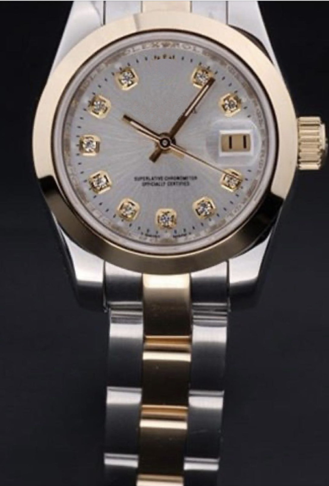 Brand New Women Stainless Steel Sapphire Watch Lady Automatic Mechanical Diamond Silver Gold Rome Black Blue Datejust 26mm AAA+