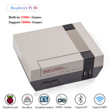 Vídeo retro game console retroflag nespi + caso com raspberry pi 3b com gamepad & 15000 + jogos de tv jogadores de jogo suporte hdmi para fora