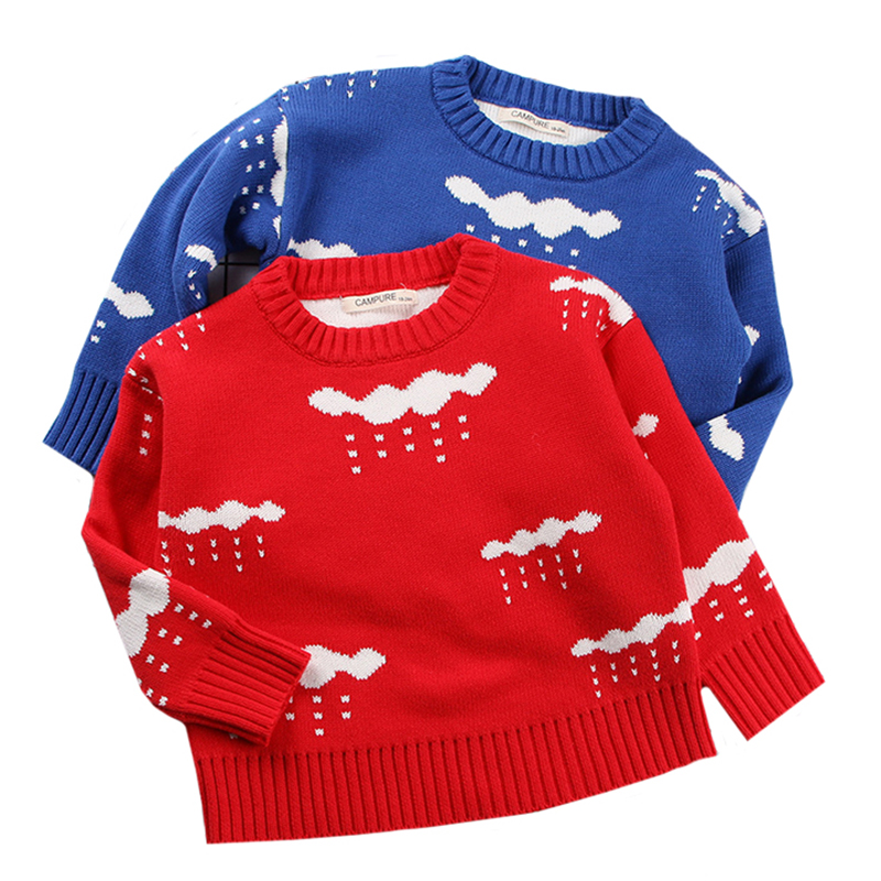 Baby Girl Winter Tops Cute Girls Boys Cartoon Style Sweaters Kids Long Sleeved Knit Sweaters Children Autumn Casual Coat Tops thumbnail