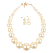 Jewelry Exaggerated Necklace Simple Imitation Pearl Short Clavicle Chain Collar Gift