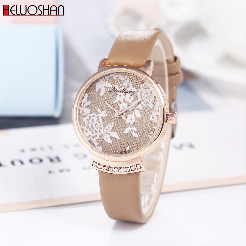 New Fashion Simple Women Watches Ladies Casual Leather Quartz Watch Relogio Feminino Montre Femme Zegarek Damski Horloges Dames