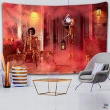 Психоделические Красочные страшно роспись с изображением черепа