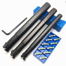 Bộ 10 dụng cụ mài Dao MGMN200 G NC3030 2.0mm có rãnh Carbide lưỡi kim loại dụng cụ quay rau MGMN200 thép không gỉ làm khe dụng cụ