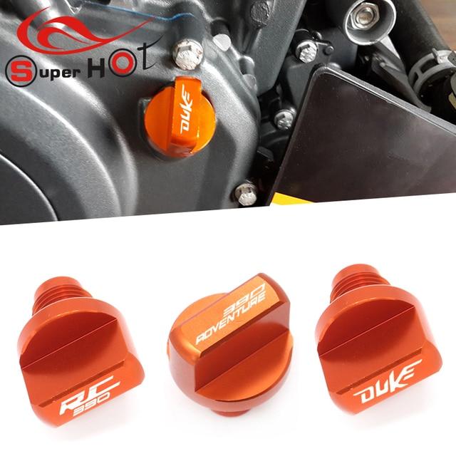สำหรับ KTM 390 Adventure RC390 DUKE390 RC DUKE 390 250 200 125 390ผจญภัยรถจักรยานยนต์อุปกรณ์เสริมเครื่องยนต์น้ำมันปลั๊ก