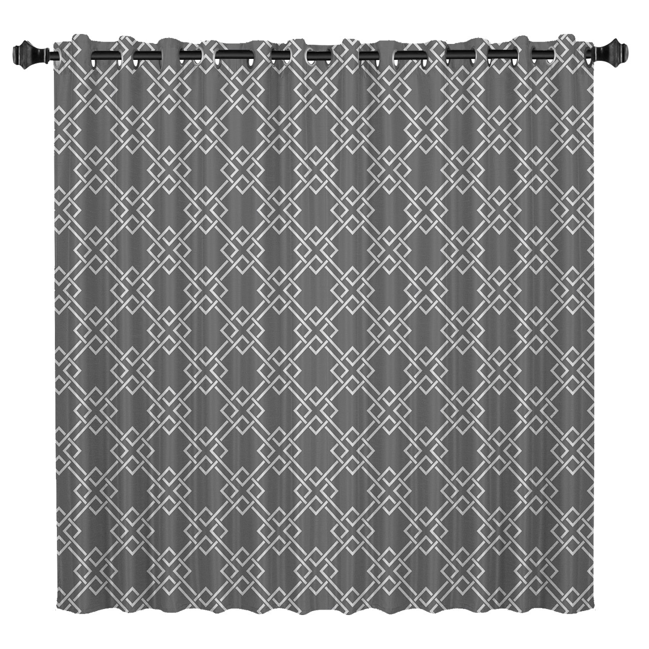 Modern Geometric Mesh Window Curtains Dark Bathroom Outdoor Kitchen Floral Drapes Decor Curtain Panels With Grommets Party Decor