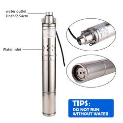 SHYLIYU 3 Edelstahl Bohrung Schraube Pump220V/50Hz 1 Hp Tiefbrunnen Tauch Wasserpumpe Kopf 116m 1 Outlet Dreh Wasser Pumpe