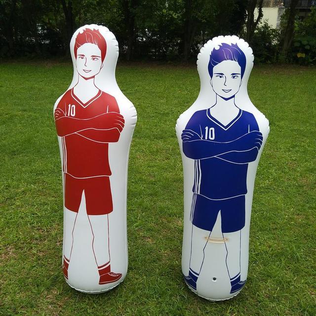 160CM Soccer Inflatable Dummy Inflatable Football Training Goal Keeper Tumbler Air Soccer Train Dummy For Adult Children