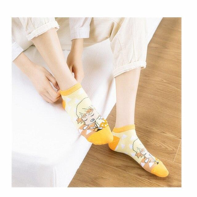 5 пар/компл демон убийца kimetsu без yaiba носки косплей с рисованным фотография