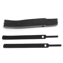 50 шт./компл. кабель для передачи данных галстук нейлоновые крючок-петля кабельный жгут крепление кабеля Маркер ремни Мощность провода управление нейлоновая застежка