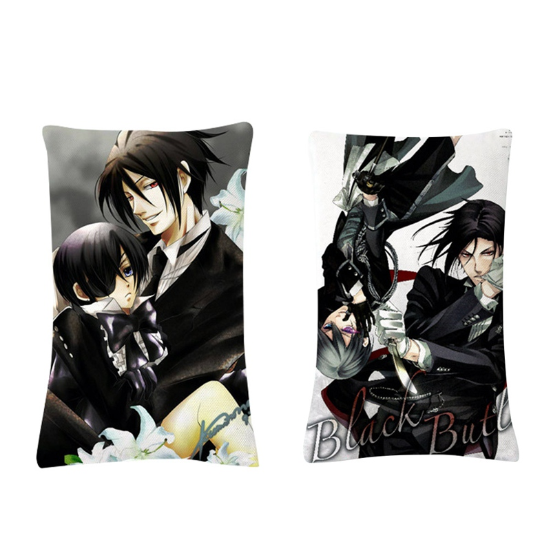 Black Butler Pillowcase Wedding Decorative Pillow Cover Custom Two Side Gift For Printed Pillow Cases 40*60cm image