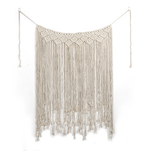 Image 2 - Boho Wedding Macrame Curtain Tapestry Cotton Handmade Wall Hanging Backdrop DIY Room Rustic Wedding Party Decoration DA