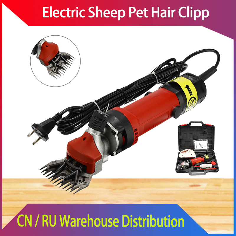 Electric Sheep Pet Hair Clipper Shearing Kit Shear Wool Cut Goat Pet Animal Shearing Supplies Farm Cut Machine 750/800W EU Plug