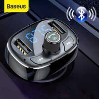 Baseus FM Del Modulatore Del Trasmettitore Bluetooth Kit Vivavoce Per Auto Lettore Audio MP3 con 3.4A Doppio Dell'automobile del USB Caricatore Del Telefono FM Transmittor