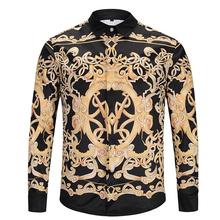 2020 męska koszula na co dzień z długim rękawem gorąca sprzedaż projektant Slim Fit tanie tanio COTTON Tuxedo koszule Pełna Skręcić w dół kołnierz zipper REGULAR 1552 Suknem Drukuj