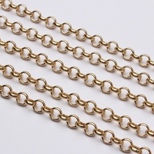 Chains Jewelry-Making-Accessories Diy Earrings Golden-Link Aluminum Rose Opened Metal