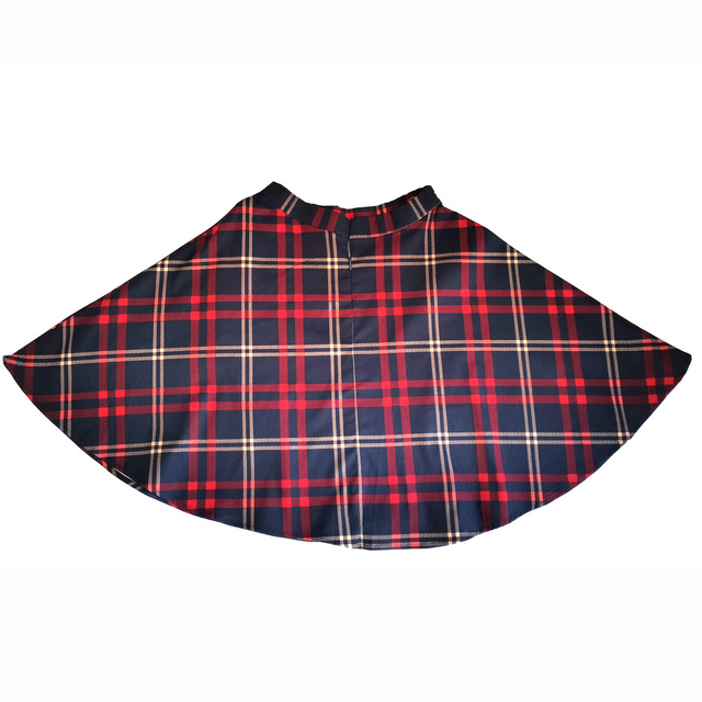 Checkered Cotton Skirts Womens Midi High Waist Pin up Hepburn Retro Vintage Swing Skirts 50s 60s Rockabilly Plaid Jurken Skater 3