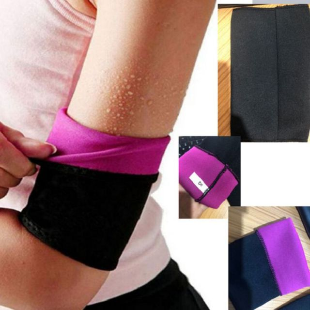 Women Compression Slimming Shaper Slimming Arm Belt Rubber Sweat Yoga Sports Gloves Thin Arms Slimming Arms