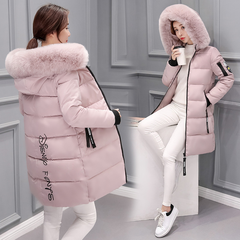 Jacket Women Parkas Long-Coat Rabbit-Fur-Collar Down Female Winter High-Quality Warm title=