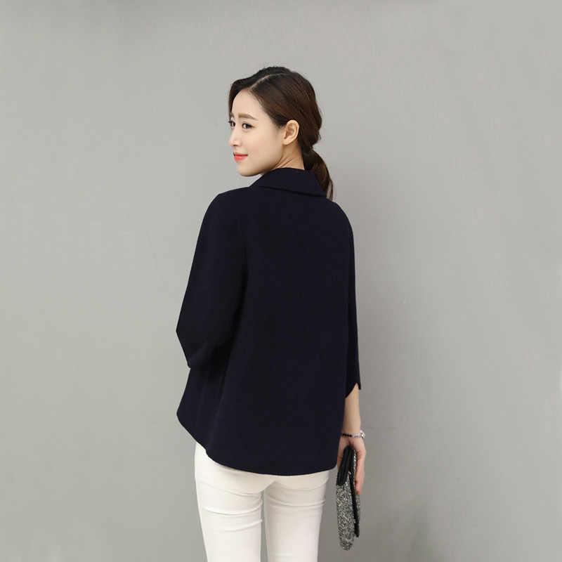 2019 New Plus Size Womens Business Suits Spring Autumn Winter wool women Blazers Jackets Slim Casual Thin Blazer Women Coat 0160
