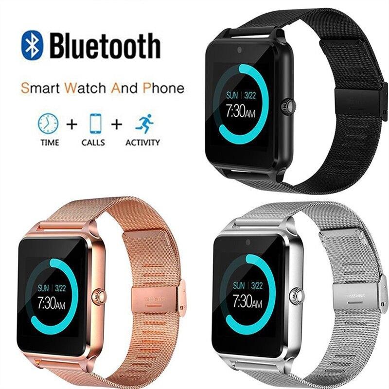 Écran tactile Smartwatch Bluetooth Sport musique Whatsapp smatr montre hommes femmes multi-langue Smartwatch horloge relogio masculino