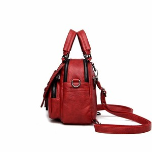 Image 2 - High Quality Female Multifunction Leather Backpacks 2019 Women Mini Backpack Solid Sac A Dos School Backpack For Teenager Girl