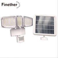 178 LED Triple Head Solar Powered Weatherproof Solar Lamps PIR Motion Sensor Activated 1000 Lms 3.6W Outdoor Flood Light