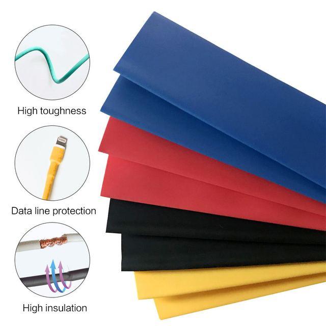 164 sztuk/zestaw rurka termokurczliwa zestaw izolacja Sleeving termoretractil poliolefinowe kurczenie różne rurki termokurczliwe drut kabel