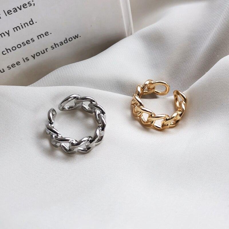 Латы золотого и серебряного цвета, кольца для мужчин и женщин в форме цепи, винтажное готическое кольцо в стиле хип-хоп, антикварные ювелирн...