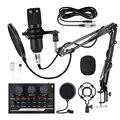 Профессиональный конденсаторный микрофон BM800, игровой микрофон для ПК с амортизационным креплением, поролоновая крышка, микрофон для звуко...