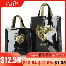 Fashion PVC Reusable Shopping Bag Womens Bag Eco Friendly London Shopper Bag Large Capacity Waterproof Handbag Shoulder Bag