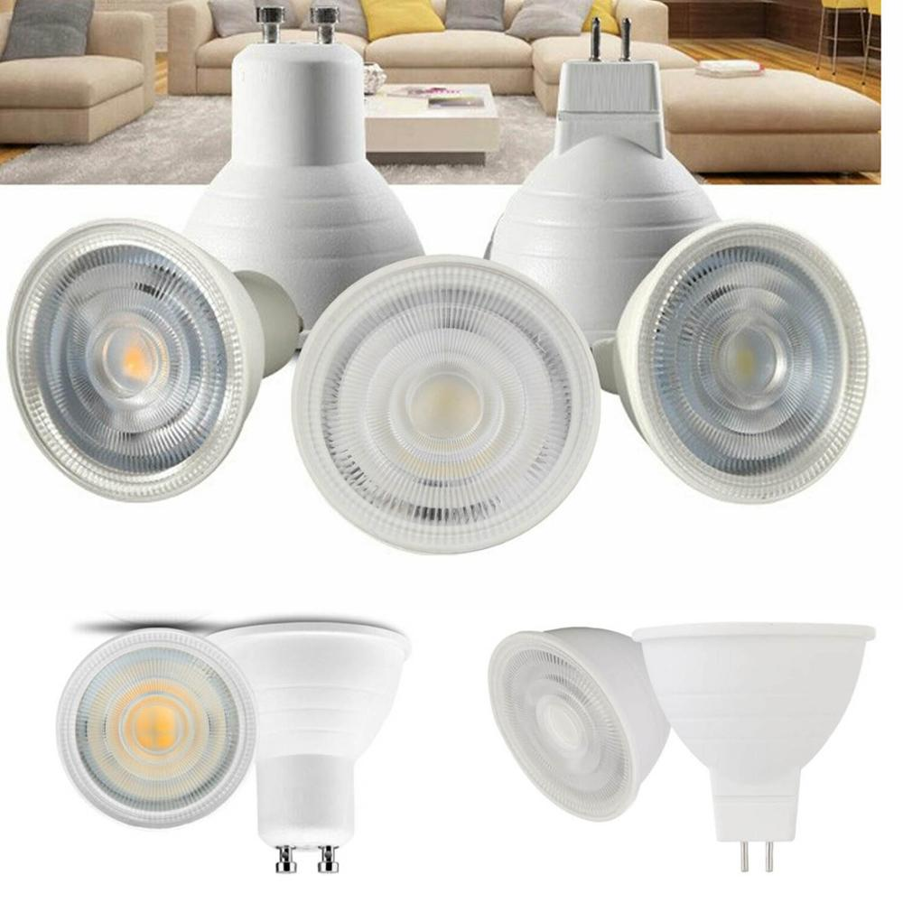 LED COB Spotlight Lamp Dimmable GU10 MR16 Bulbs High Power 7W 220V AC Replace Halogen Lamps Energy Saveing Lighting