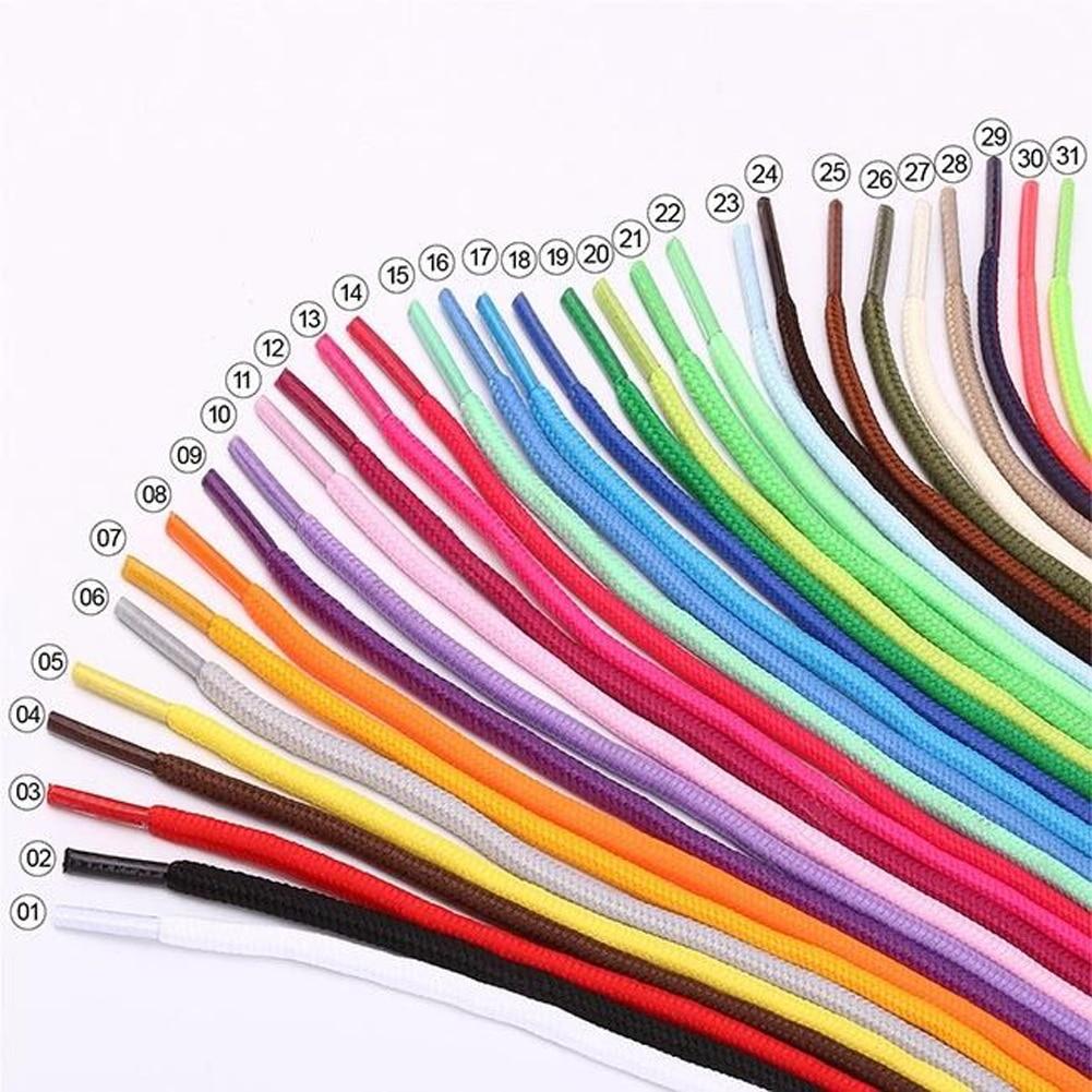 Unisex Colourful Shoelace Men Women Rope Multicolor Sneakers Shoe Laces Waxed Round Shoelaces  Shoes Woman Round Cord 26 Colors