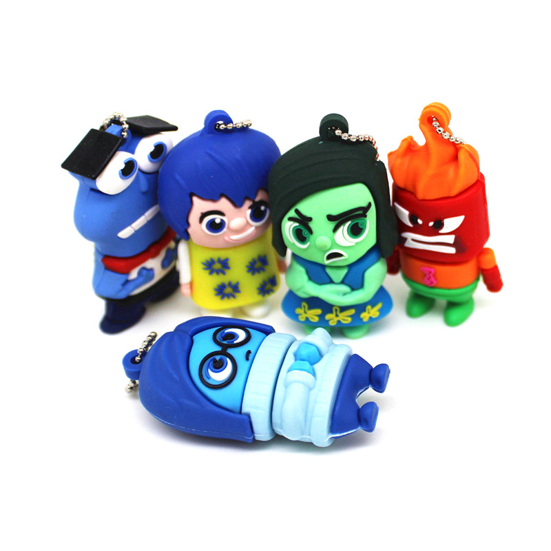 Cartoon Inside Out USB Flash Drive 4GB 128MB Pen Drive 32GB 64GB Pendrive 8GB 16GB U Flash disk Memory Stick Drives