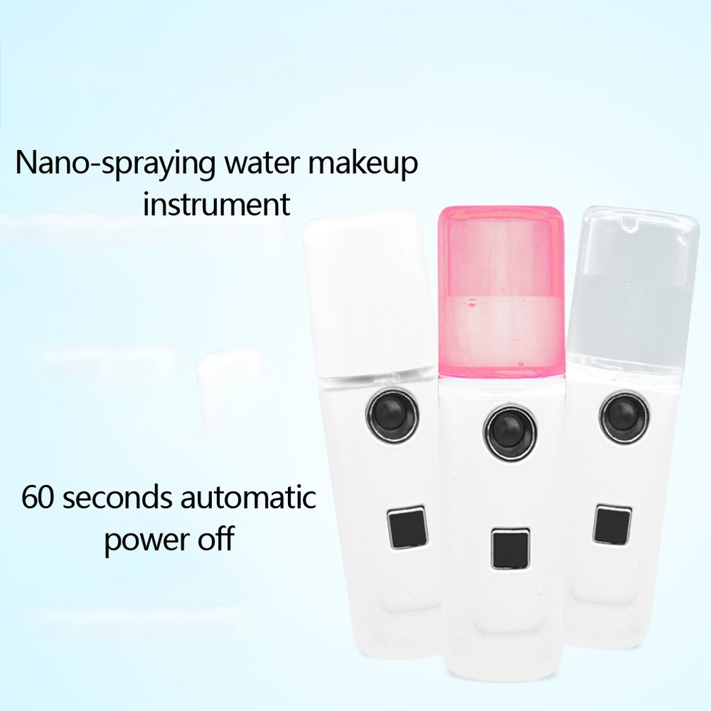 Mini Cosmetic Face Evaporating Instrument Usb Charging Nano Spray Water Tank Mini Steamed Face Humidifier Portable Size in Face Skin Care Tools from Beauty Health