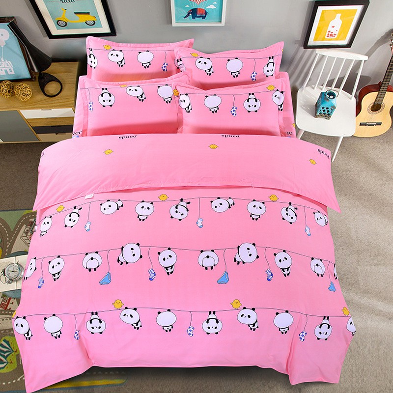 [Xuan Yan] 1.5m Four-piece Set Brushed Thick New Style Bed Sheet Type Four-piece Set A Generation Of Fat