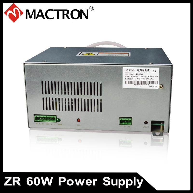 1 PCS SUNS 60w lazerio maitinimo šaltinis 40W-70W Co2 lazerio vamzdeliui