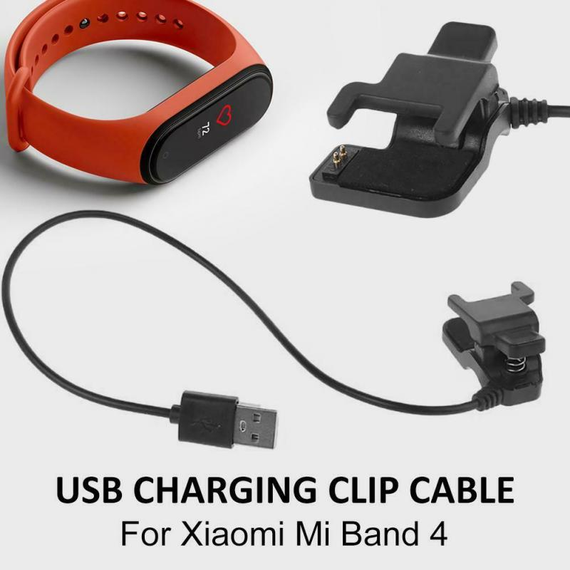 Fast Charing Clip Cable For Xiaomi Mi Band 4 NFC Charger Cord Replacement USB Charging Cable Adapter Dissembly Free For Miband 4