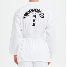 Professiona ITF Approve White Uniform Taekwondo Student Doboks Suit Kimono Martial Arts Taekwondo Clothes Long Sleeve Fitness Gi super deal japan kendo aikido iaido hakama gi martial arts uniform sportswear dobok sets coat and culottes free collocation