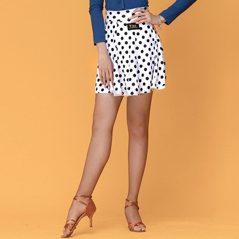 Latin Dance Skirts Adults Milk Fiber Mini Skirt Salsa Cha Cha Rumba Samba Tango Dancewear Practice Performance Clothing DN4940