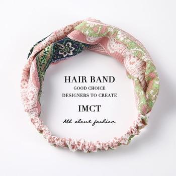 2019 New Hair Accessories Women Headband Fashion Korean Cross Knot Elastic Bands Soft Solid Girls Hairband Free shipping