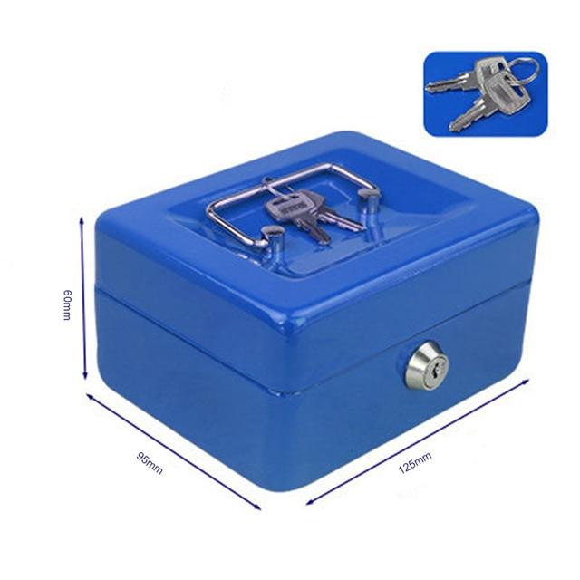 Protable Key Locker Safe Home Shop Steel Mini Money Box Security Cash box Storage Box Hidden Coin Money Jewellery 2