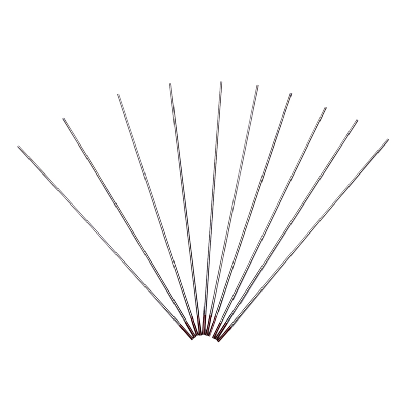 Hot XD-10Pcs Red Color Code Thorium Tungsten Electrode Head Tungsten Needle/Rod For Welding Machine