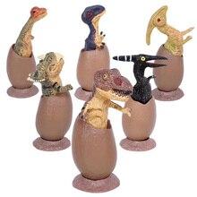 6PCS 6.5cm דינוזאור מאובנים ביצי צעצועי סט אוסף דגם פעולה דמויות דינוזאור המפלגה תפקידים לשחק צעצועים חינוכיים לילדים מתנה
